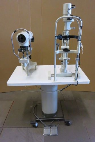 Bobes Split Lamp & Keratometer On Motorized Examination Table Optical Equipment